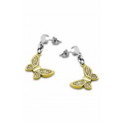 Pendientes de colgar en acero de la marca Lotus Style con mariposas. - LS1529/4/2
