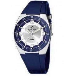 Reloj deportivo analógico pulsera color azul hombre Calypso. - K6044/5