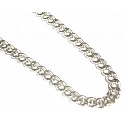 Collar de plata con malla barbada y de 50 cms de largo - 5/60/60.40