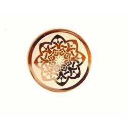 Medalla interior de acero color cobrizo para interior de colgante - 25500178C