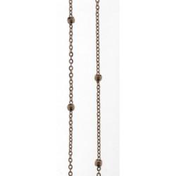 Cadena de acero de 80 cms con malla intercalada con bolas  - 25500188/80C