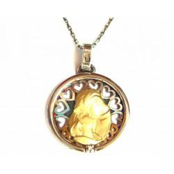 Colgante de Finor de plata con pareja de oro y un brillante  - FI/08CAP19