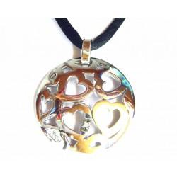 Colgante de plata y oro de FINOR con brillante - FI/08CAP21