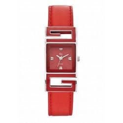 Reloj Go analógico con correa de piel roja - 698090