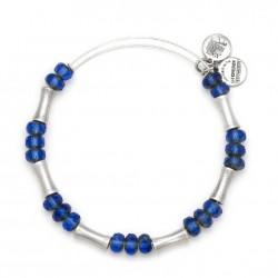 Pulsera de metal plateado Glade Azul de Alex and Ani - A13EB26RS