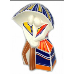 Figura cerámica Galos. Chovendo Cubista - 8770