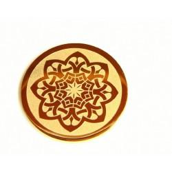 Medalla interior de acero dorado para interior de colgante - 25500178D
