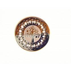 Medalla interior de acero con circonitas para colgante - 25500249