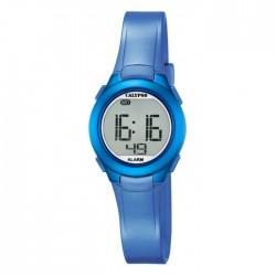 Reloj digital para niña de Calypso con correa de caucho azul - K5677/5