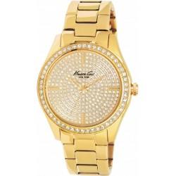 Reloj Kenneth Cole Brooklyn Pave analógico con armis de acero dorado - IKC4957