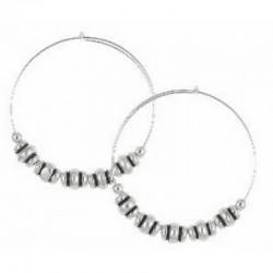 Pendientes de aro de metal plateado de Alex and Ani - A10EH025RS