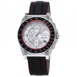 Reloj Breil Manta cronómetro con correa de piel negra - TW0790