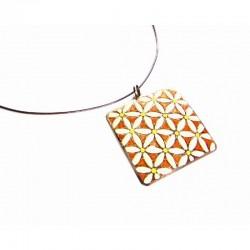 Collar plata con esmalte - G/1827