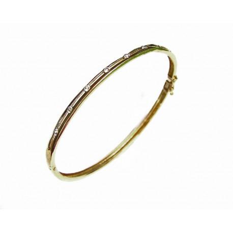 97483ed2c591 Pulsera aro bicolor de oro de 18 kl con circonitas - MP353 9.50