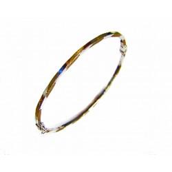 Pulsera de oro bicolor de 18 kl acabado mate y brillo - FR306/4.58