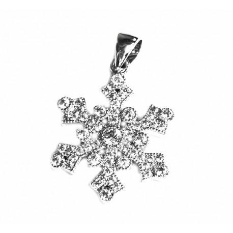 18813fdfe371 Colgante de plata para mujer en forma de copo de nieve - 388