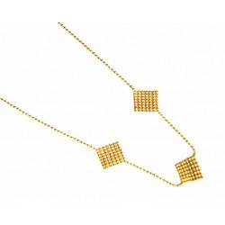 Collar de oro de 18 kl con cierre de anilla - 400390/2.9