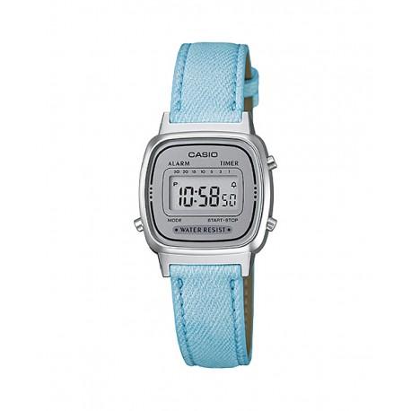 10b7273ef992 Reloj clásico de Casio digital para mujer en color azul - LA-670WL-2A