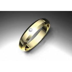Alianza de oro con brillante - 40TRAPECIO/4.5