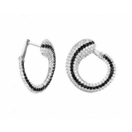 8117b1ce3ed8 Pendientes de plata con circonitas y cierre catalán - D6018