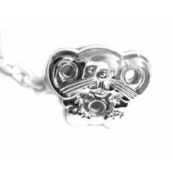 Pinza para chupete Ratoncito  de plata con cadena blanca de Cunill - 212896