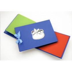 Album infantil azul  con motivo de Las Tres Mellizas en  plaqué de plata.  - 343100
