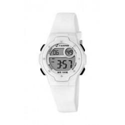 Reloj Calypso digital con correa de caucho blanca - K6056/1