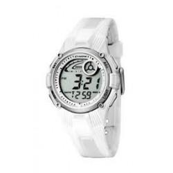 Reloj Calypso digital con correa de caucho blanca - K5558/1