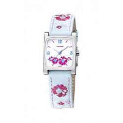 Reloj Calypso con correa de piel azul - K6046/3