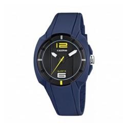 Reloj Calypso con correa de caucho azul - K5597/5