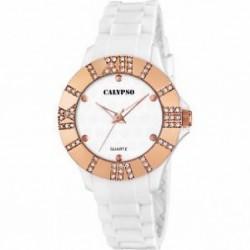 Reloj de pulsera analógico  para mujer blanco Calypso - K5649/3