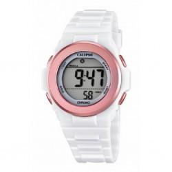 Reloj Calypso con correa de caucho blanca  - K5661/1