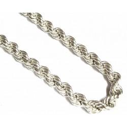 Cordón de plata de 50 cms de largo y cierre de mosquetón - 8/50/40.30