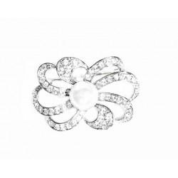 Broche de plata con perla y circonitas - 12X/47