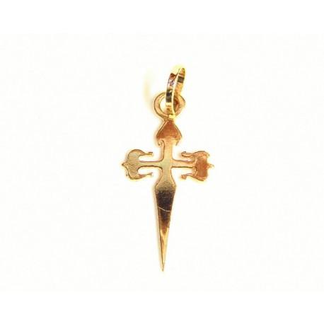 Cruz de Santiago de oro de 18 kl - 3-7TO