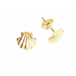 Pendientes concha de Santiago en oro 18 kl - 43325