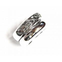 Doble anillo de plata con filigrana de la colección Miña Xoia - 5-351R