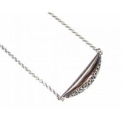 Gargantilla de plata con filigrana de la colección Miña Xoia - 7-326R