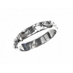 Anillo del amor de plata rodiada con diamante de la colección Miña Xoia - 5-358RDIA