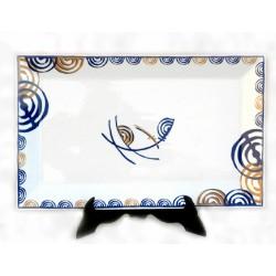 Orballo, bandeja rectangular de cerámica Galos - 5909