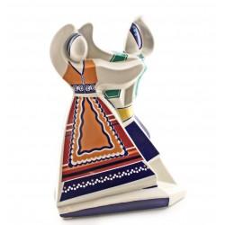Parella de baile cubista de cerámica Galos - 8793