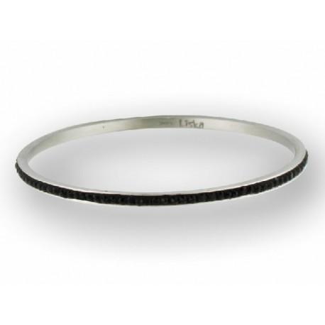 Pulsera de acero con cristal Swarosky color negro - 845BR162-N
