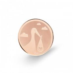 Moneda interior de acero con cigüeña - 25500090