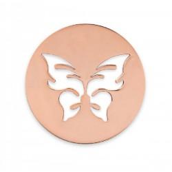 Colgante de acero color cobre con mariposa - 25500102