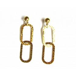 Pendientes de metal dorado de Line Argent - 13478-A