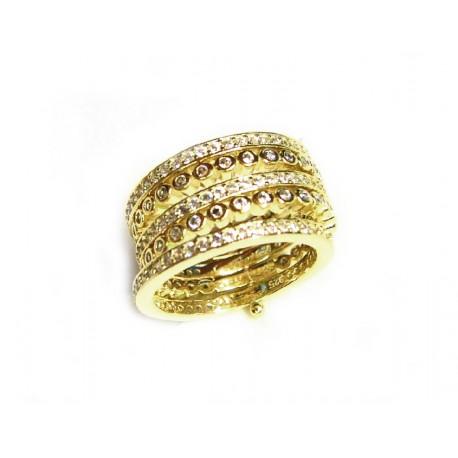 9b10246a953e Sortija de plata compuesta de cinco anillos unidos en su parte inferior con  pasador