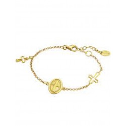 Pulsera de plata dorada con cruces - LP1268-2/2