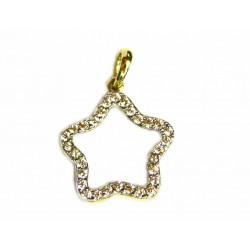 Colgante flor de oro de 9 kl con circonitas - 9K16486
