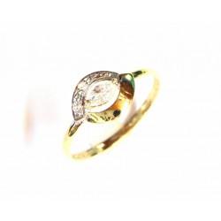 Anillo de oro de 9 kl bicolor con circonitas - 9K20573/2