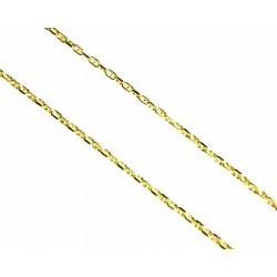 Cadena de oro de 9kl con malla de ancla en 50cm de largo y cierre de anilla - 9K270750/2.10